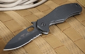 Emerson CQC10-BTS Partial Serrations - Black Blade