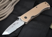 Emerson CQC7V SFS Tan Tactical Folding Knife - Partial Serrations