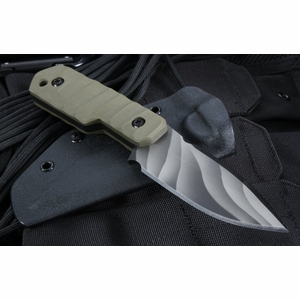 Crusader Forge TCFM 03 OD Green Tactical Fixed Blade Knife - SOLD
