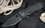 Crusader Forge F.I.F.P. Fear is For Prey Black on Black Tactical Folding Knife