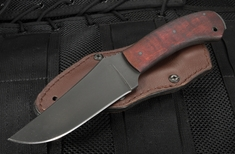 Winkler Crusher Belt Knife - Caswell and Maple - Leather Sheath