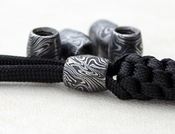 Damascus Bead - Paracord Lanyard - Convex Style (3 Pack)