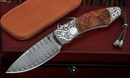 Exclusive William Henry B12 Desert Skull -  Damascus Folding Knife