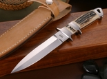 Dietmar Kressler Exclusive Sub-Hilt Dagger Stag Integral Knife -SOLD