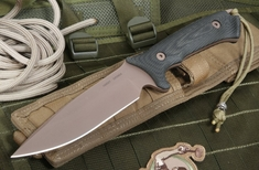Spartan Blades Difensa FDE and Black Tactical Fixed Blade