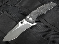 "Brian Tighe Custom ""Drip Tighe"" Carbon Fiber Tactical Folding Knife"
