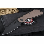 Duane Dwyer Custom SMF Black and Tan Tactical Folding Knife -SOLD