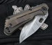Duane Dwyer Custom SNG Titanium and Damascus Folding Knife