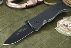 Emerson CQC-7 BT Black Blade Folding Knife - 154CM Steel