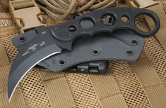 Emerson Karambit BT Black Fixed Blade with 154CM Steel - Kydex Sheath