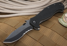 Emerson Mini CQC-15 BTS Black Serrated Blade - with 154CM Steel