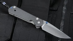 Exclusive Chris Reeve Small Carbon Fiber Sebenza Folding Knife - Left
