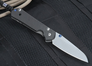 Exclusive Chris Reeve Small Sebenza 21 Carbon Fiber - Insingo Blade - Left Hand