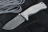 Exclusive Lion Steel SR-1 StarFire Pattern Stainless Damascus Folding Knife
