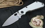 Exclusive Strider Knives SNG Arctic Grey Tactical Folding Knife - SOLD
