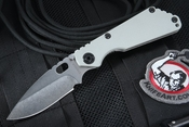Exclusive Strider Knives SNG Arctic Grey Tactical Folding Knife