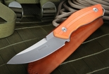 Fantoni C.U.T. Fixed Blade - Sinkevich Design - Orange Handle w Leather