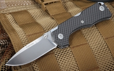 Fantoni Hide Carbon Fiber - Rumici Design - Lockback Folding Knife