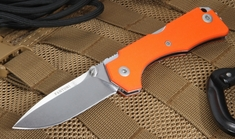 Fantoni Hide Orange G10 - Rumici Design - Lockback Folding Knife