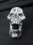 GD Skulls Large Sterling Silver Screaming Skull Bead