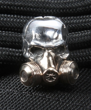GD Skulls Gas Mask Sterling Silver Skull with Bronze Mask