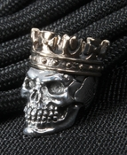 GD Skulls Sterling Silver King with Bronze Crown