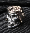 GD Skulls Pilot Sterling Silver Skull and Bronze Helmet