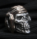 GD Skulls Pirate Sterling Silver Skull with Bronze Wrap