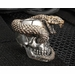 GD Skulls Snake Skull Sterling Silver and Bronze Bead