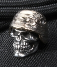GD Skulls Sterling Silver Soldier with Bronze Helmet