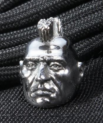 GD Skulls Sterling Silver Mohican Bead