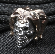 GD Skulls The Jester Sterling Silver and Bronze Bead