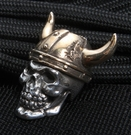 GD Skulls Viking Sterling Silver Skull with Bronze Helmet