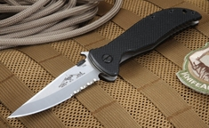 Emerson Gentleman Jim SFS Partial Serrations Tactical Folder