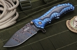 Darrel Ralph Custom Damascus Gun Hammer Folding Knife