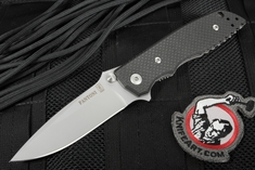 Fantoni HB 01 Black Bill Harsey Tactical Folding Knife - Carbon Fiber Edition