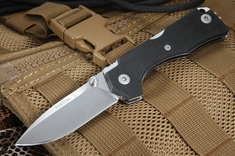 Fantoni Hide Black G10 - Rumici Design - Lockback Folding Knife