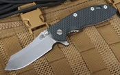 "Rick Hinderer XM-18 3 1/2""  Flipper Skinner - Black and Green"
