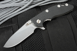 "Rick Hinderer XM-18 3"" Brown Wharncliffe Tactical Folder"