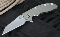 "Rick Hinderer XM-18 3"" Wharncliffe Flipper - OD Green"