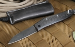 Hiroaki Ohta Large Damascus Friction Folder - Carbon Fiber