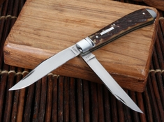 Hiroaki Ohta Two Blade Stag Trapper Folding Knife -SOLD