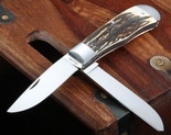 Joel Chamblin Large StagTrapper Folding Knife - SOLD