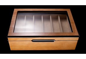 Knife Display Case - Wood & Glass Presentation Box