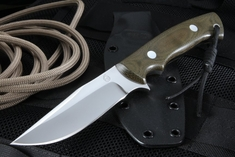 KnifeArt.com All Purpose Fixed Blade Knife - Ranger Green