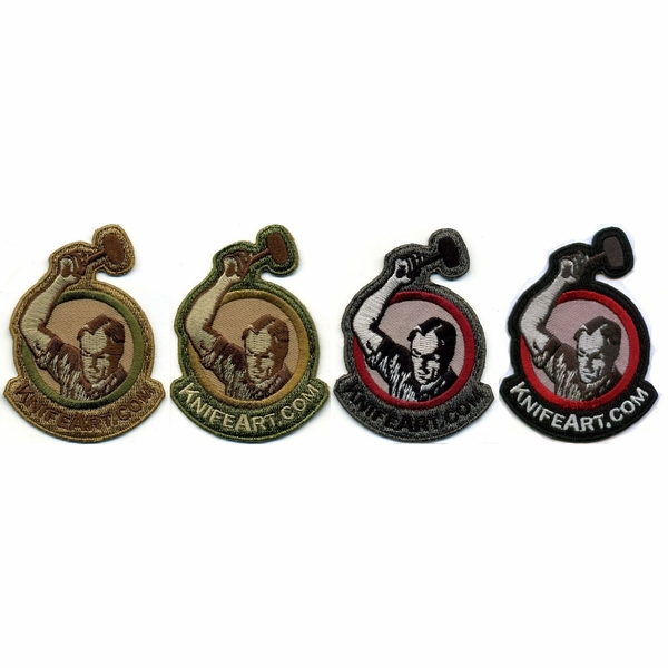 KnifeArt.com Morale Patches - Four Pack (Desert, Multicam, Urban & Black)