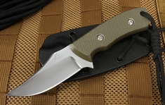KnifeArt.com Razorback Fixed Blade Neck Knife - OD Green