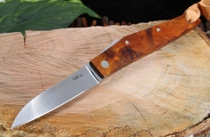 Large Ironwood Friction Folder - Hiroaki Ohta Custom Folding Knife 2 - SOLD