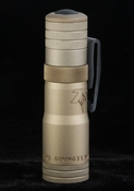 LensLight Mini Tan Aluminium Dual Output LED Flashlight