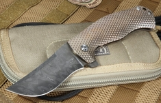 Les George Custom Damascus Hydra Flipper